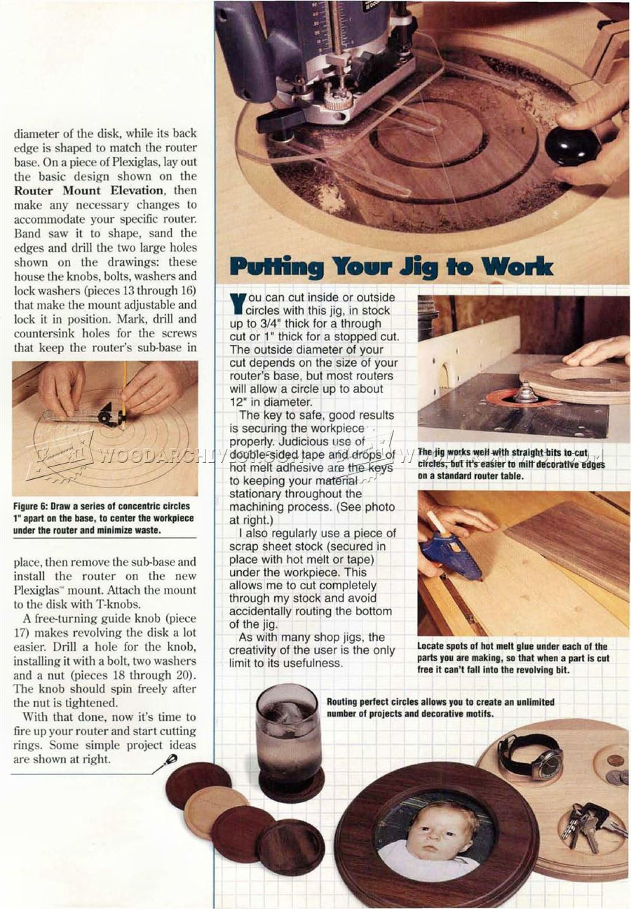Router Circle Cutting Jig Plans