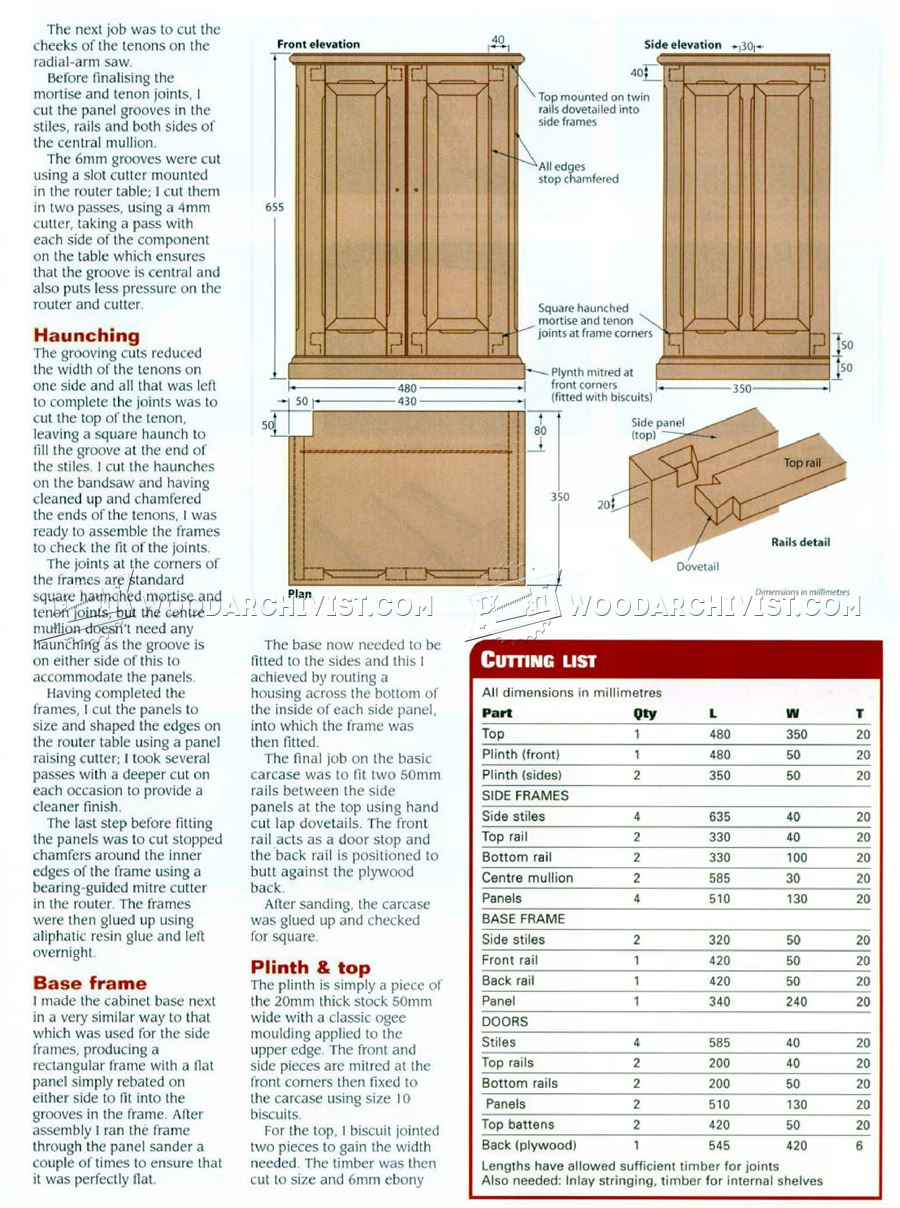 Small Cabinet Plans