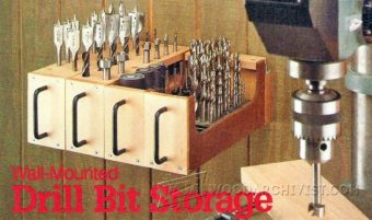 2358-Wall-Mounted Drill Bit Storage