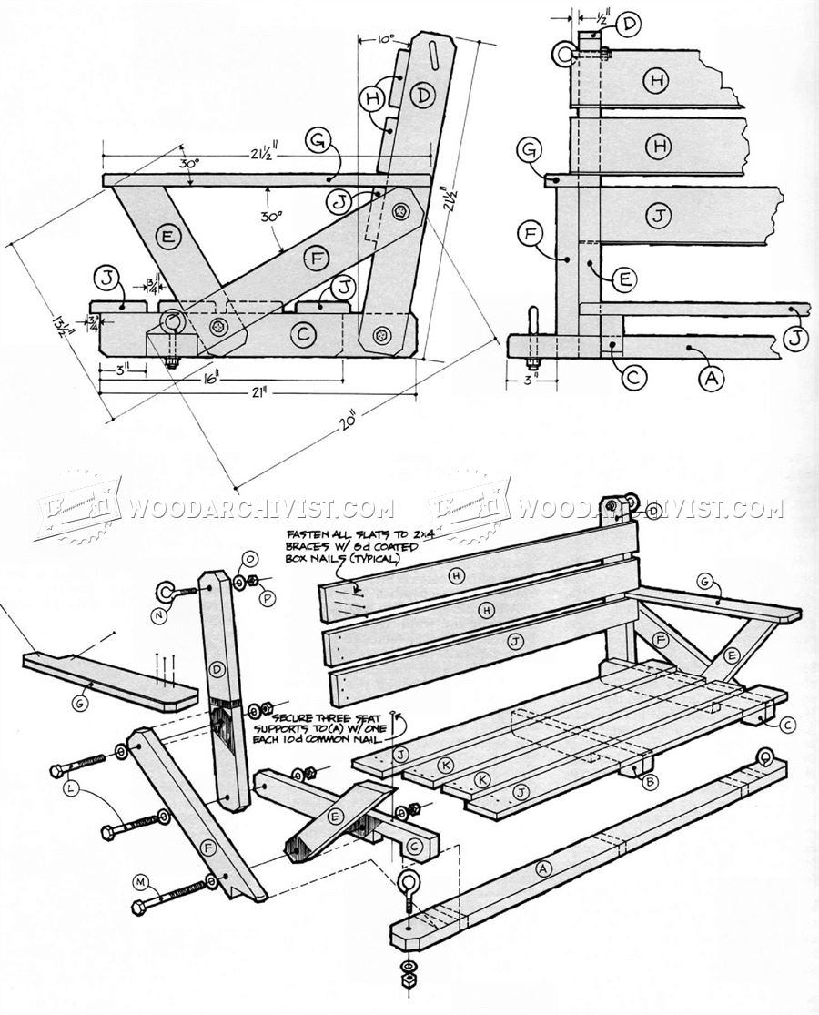 Porch swing diagrams wiring library for Victorian porch swing plans