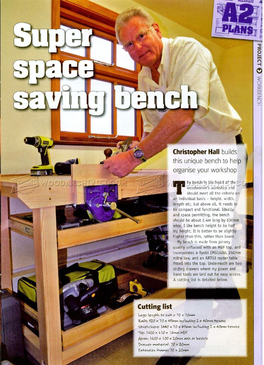 2362 Space Saning Workbench Plans - Workshop Solutions