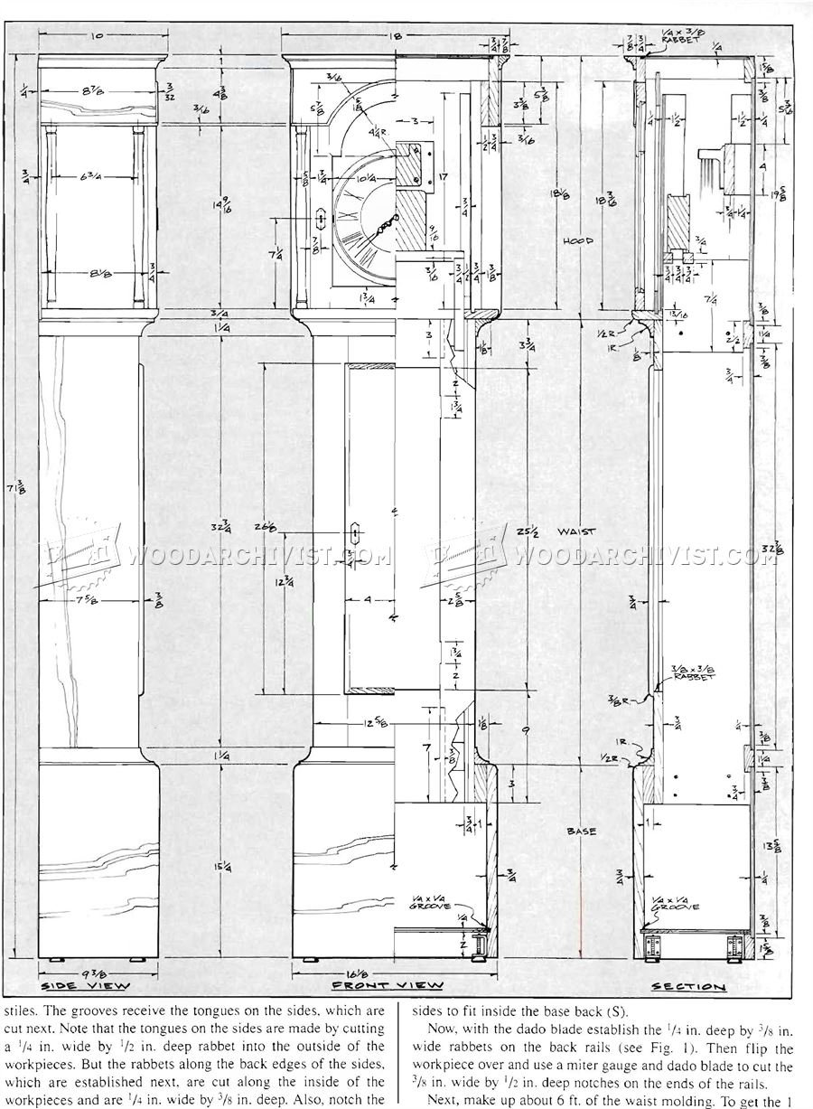 Shaker Tall Clock Plans • WoodArchivist