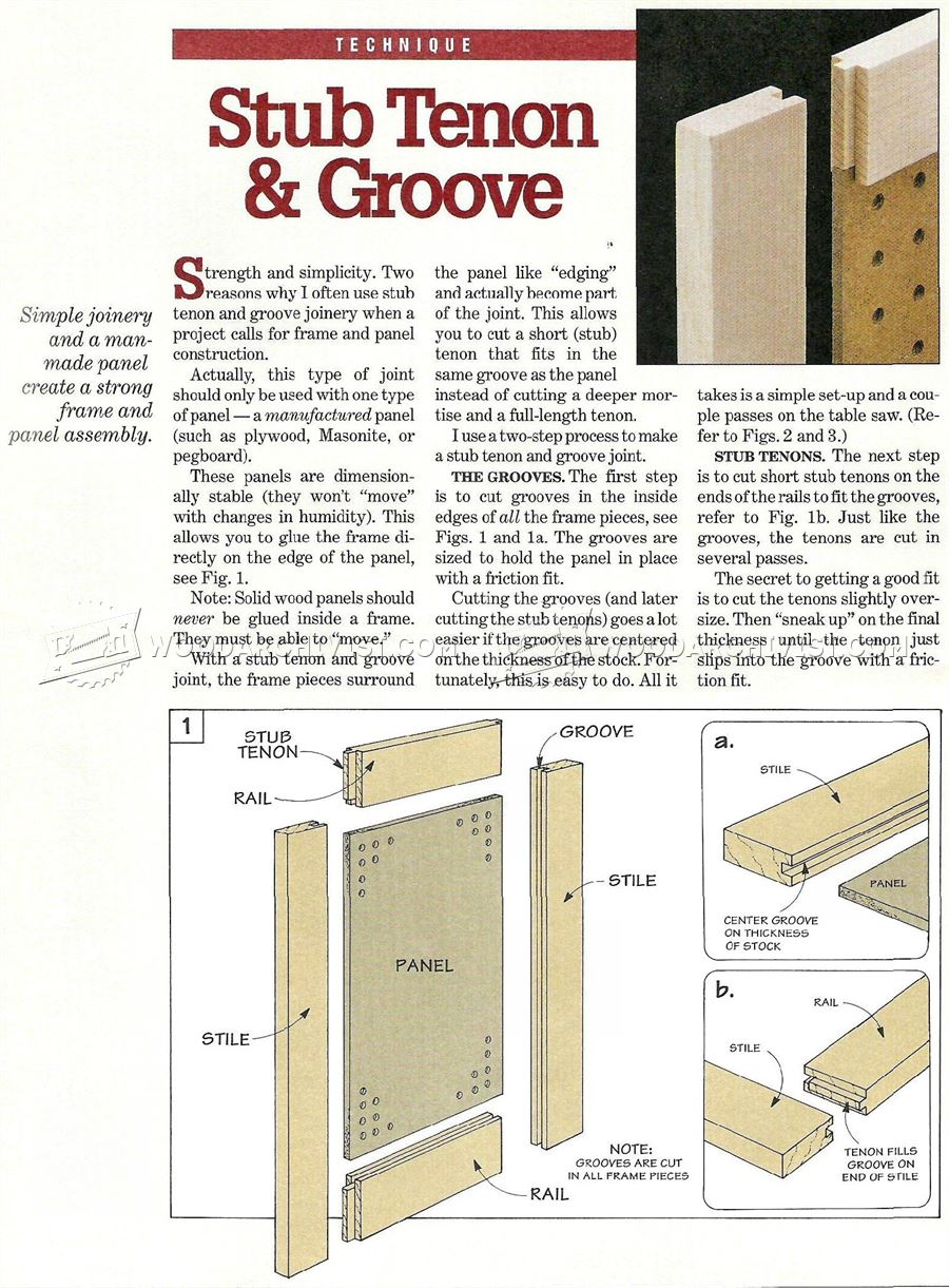 Making Stub Tenon Doors Woodarchivist