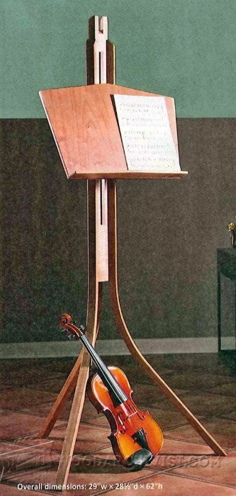 2372-Wooden Music Stand Plans