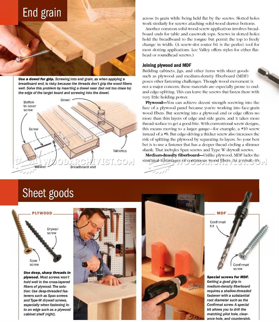 Wood Screw Basics