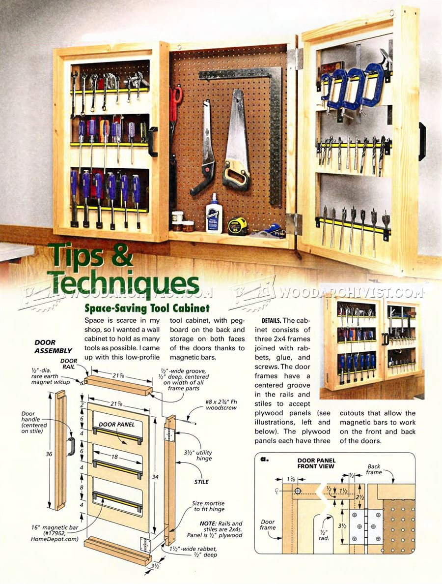 #2379 Pegboard Tool Cabinet Plans