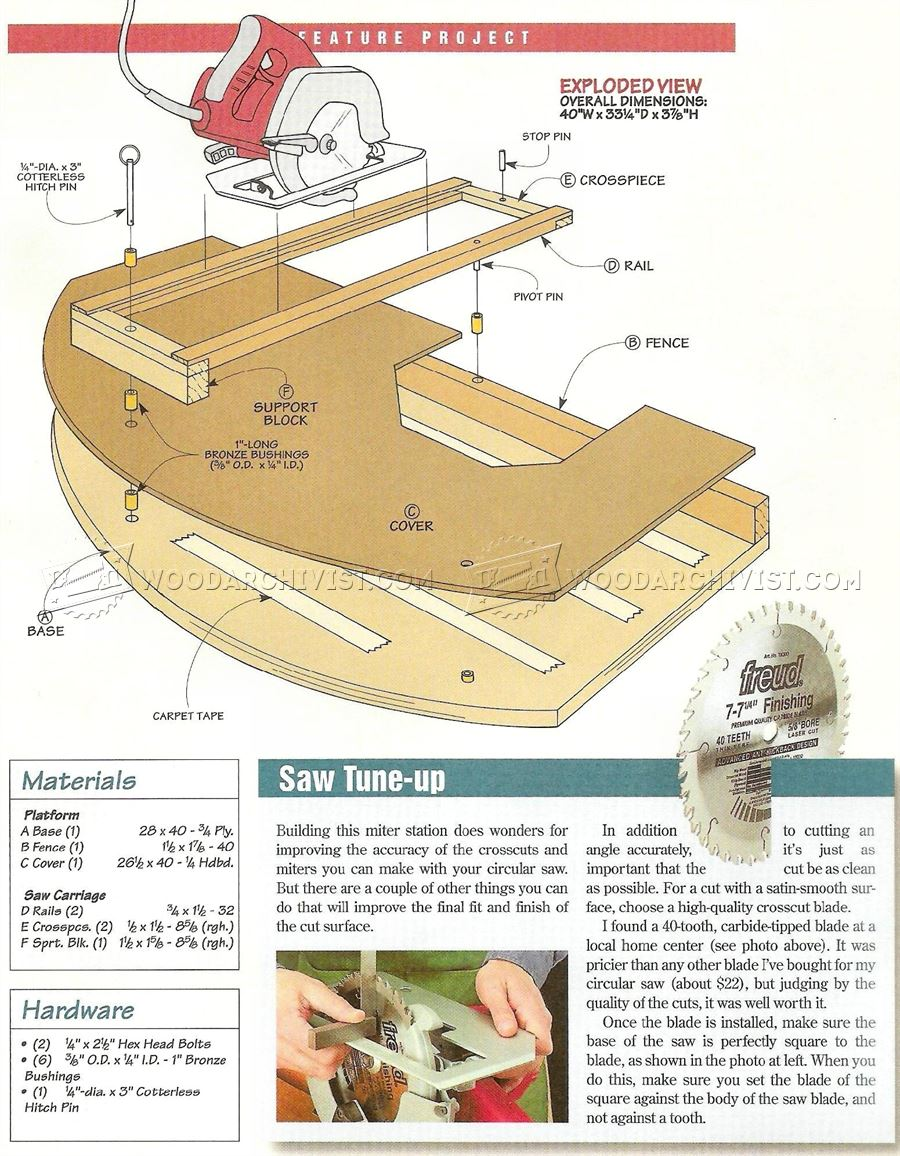 Circular Saw Crosscut and Miter Jig