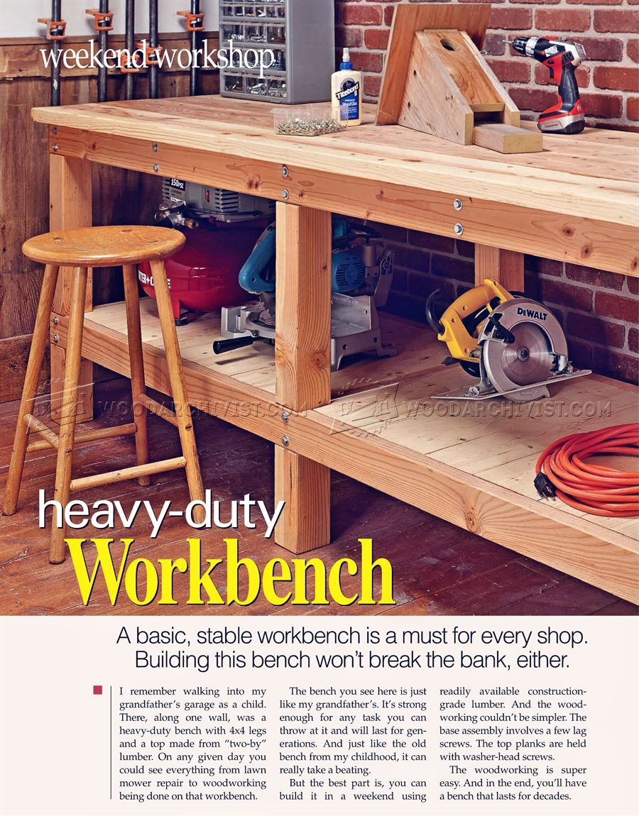 #2381 Heavy Duty Workbench Plans