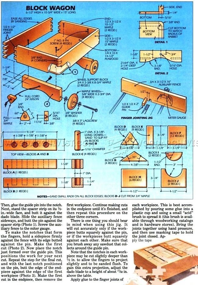 Wooden Toy Wagon Plans