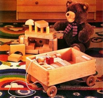2383-Wooden Toy Wagon Plans