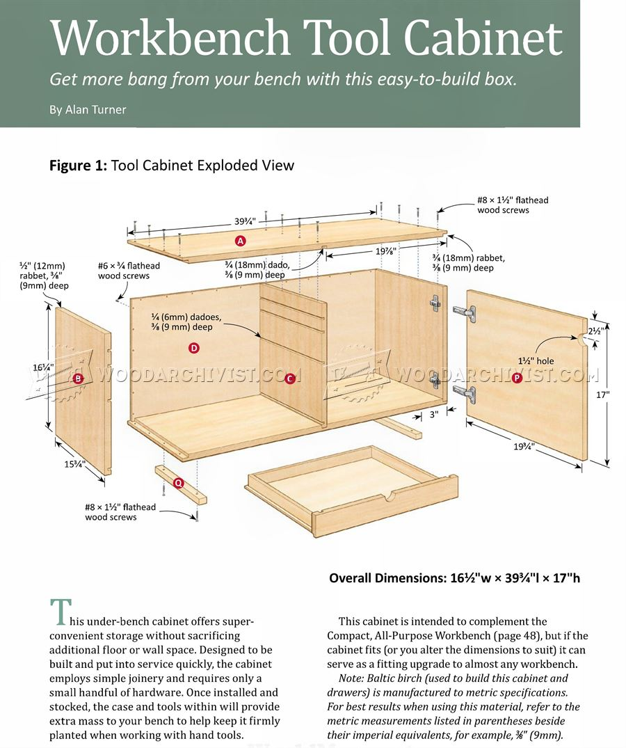 Compact Workbench Plans