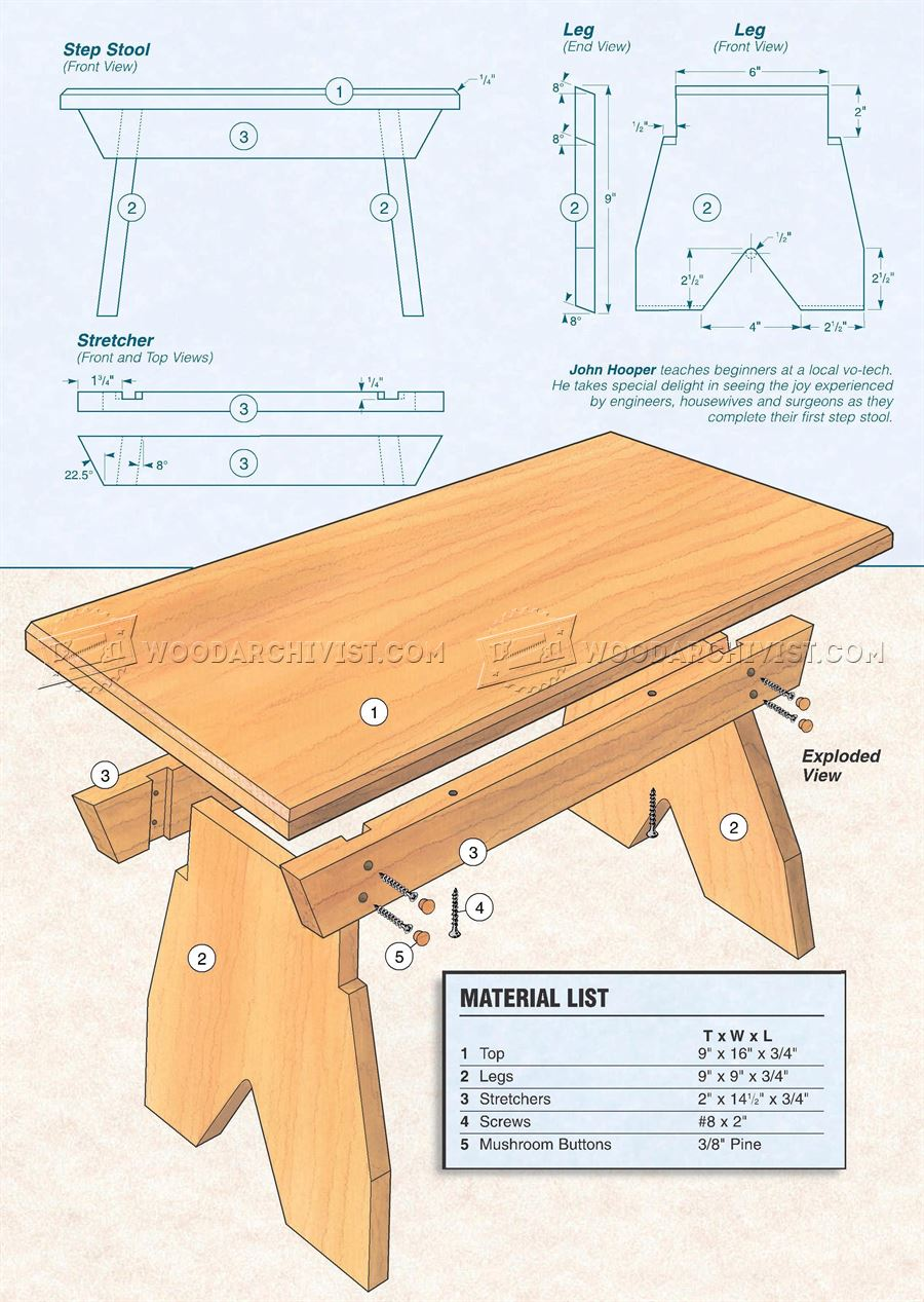 Foot Stool Plans