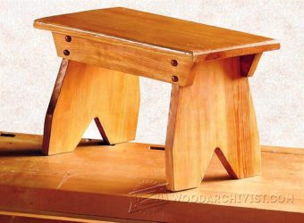 2391-Foot Stool Plans