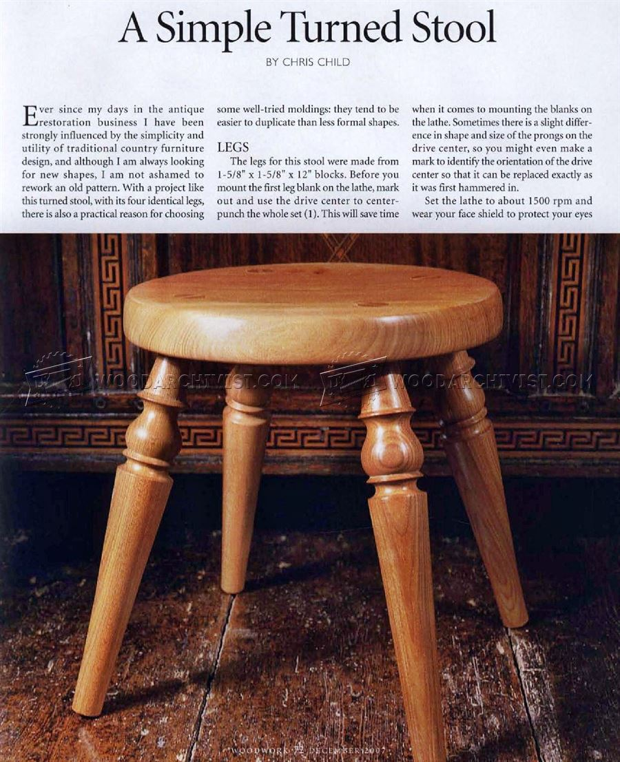 Woodturning Stool