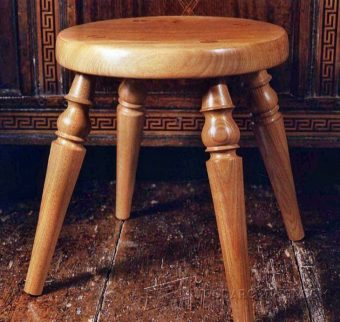2393-Woodturning Stool