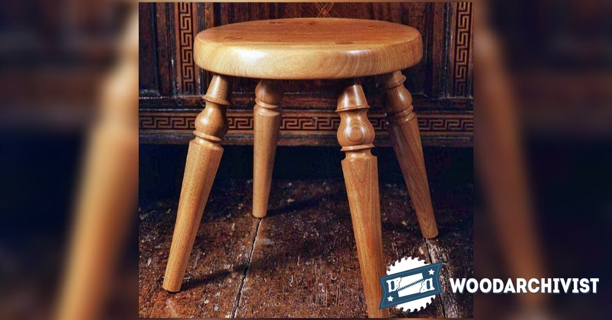 Woodturning Stool Woodarchivist