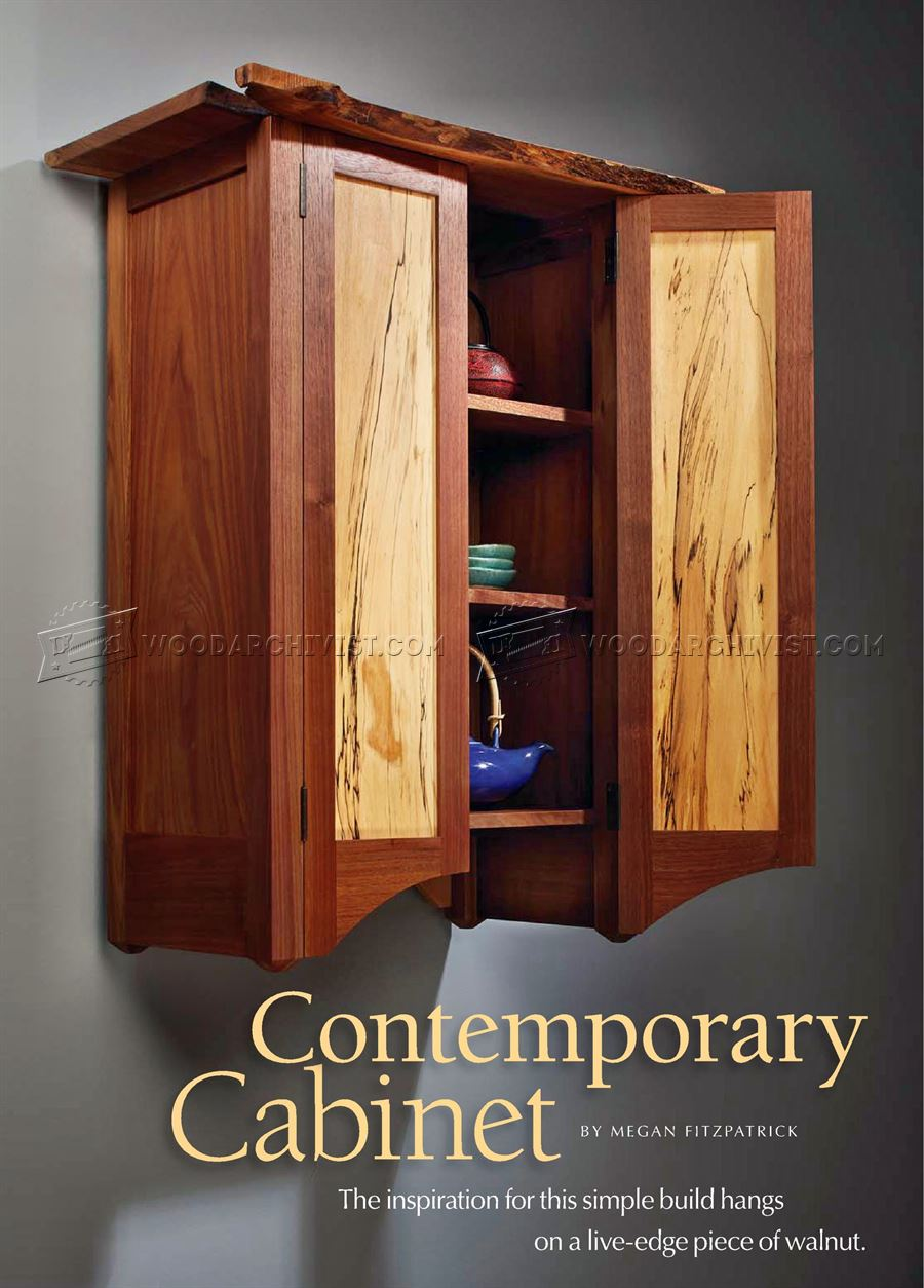 Contemporary Wall Cabinet Plans & Contemporary Wall Cabinet Plans u2022 WoodArchivist