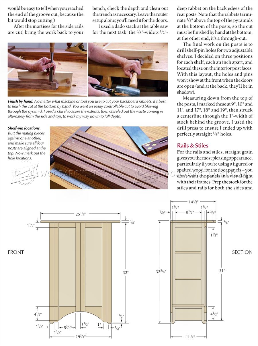 Contemporary Wall Cabinet Plans