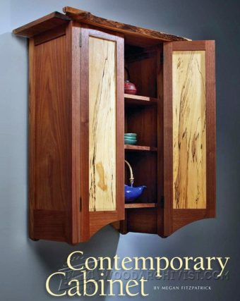 2396-Contemporary Wall Cabinet Plans