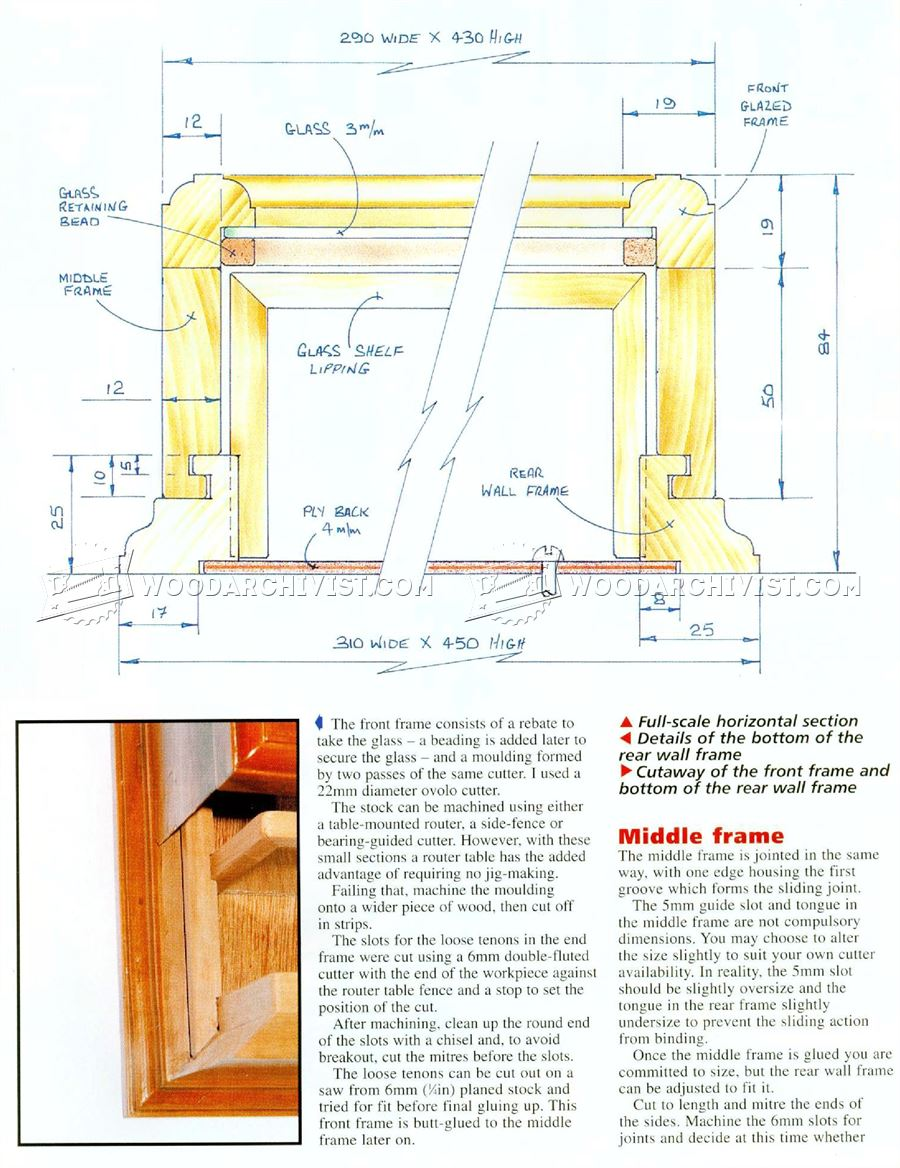 Display Cabinet Plans