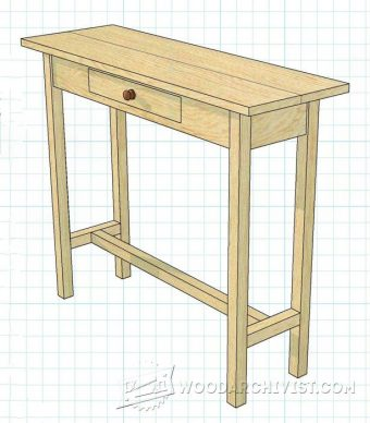 2398-Hall Table Plans