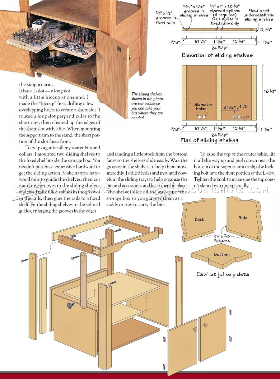 Tilt Top Router Table Plans
