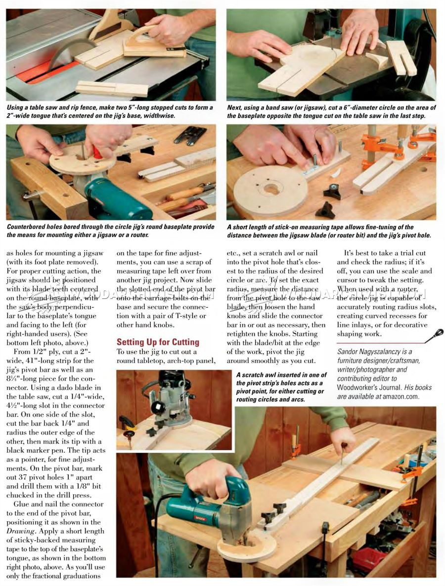 Jig Saw Circle Cutting Jig