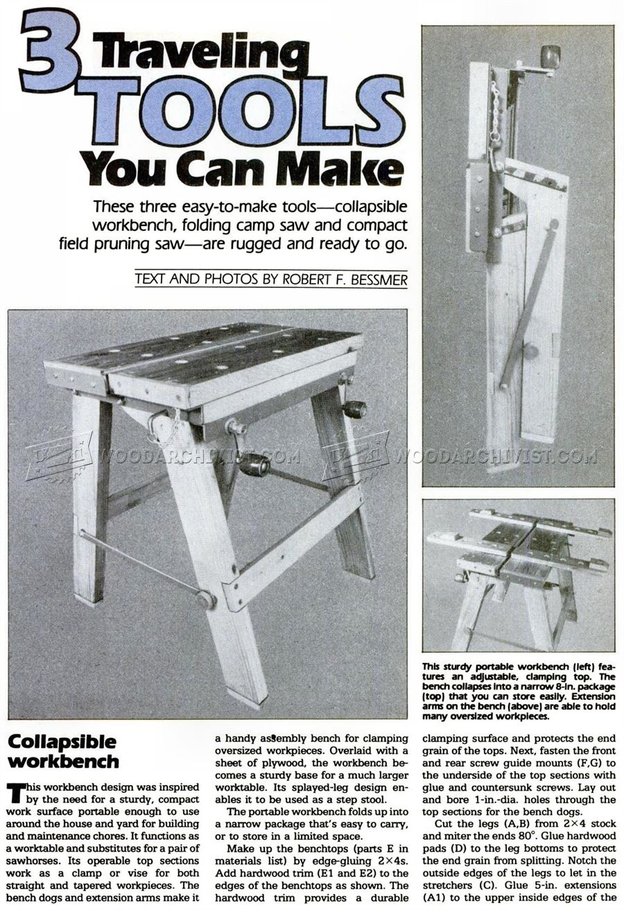 Foldable Workbench Plans