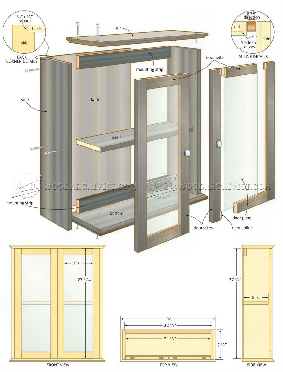 Bathroom Wall Cabinets bathroom wall cabinet plans • woodarchivist