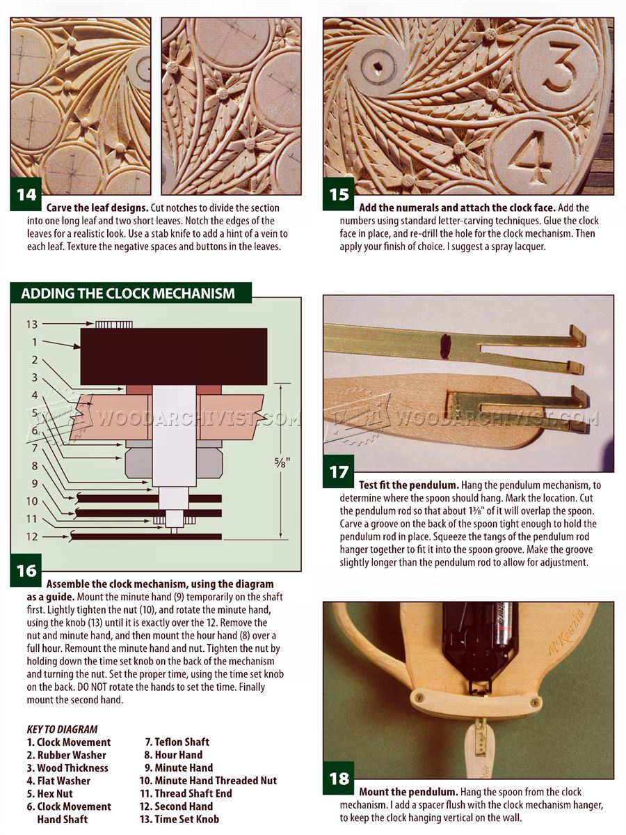 Wall Clock - Chip Carving Projects