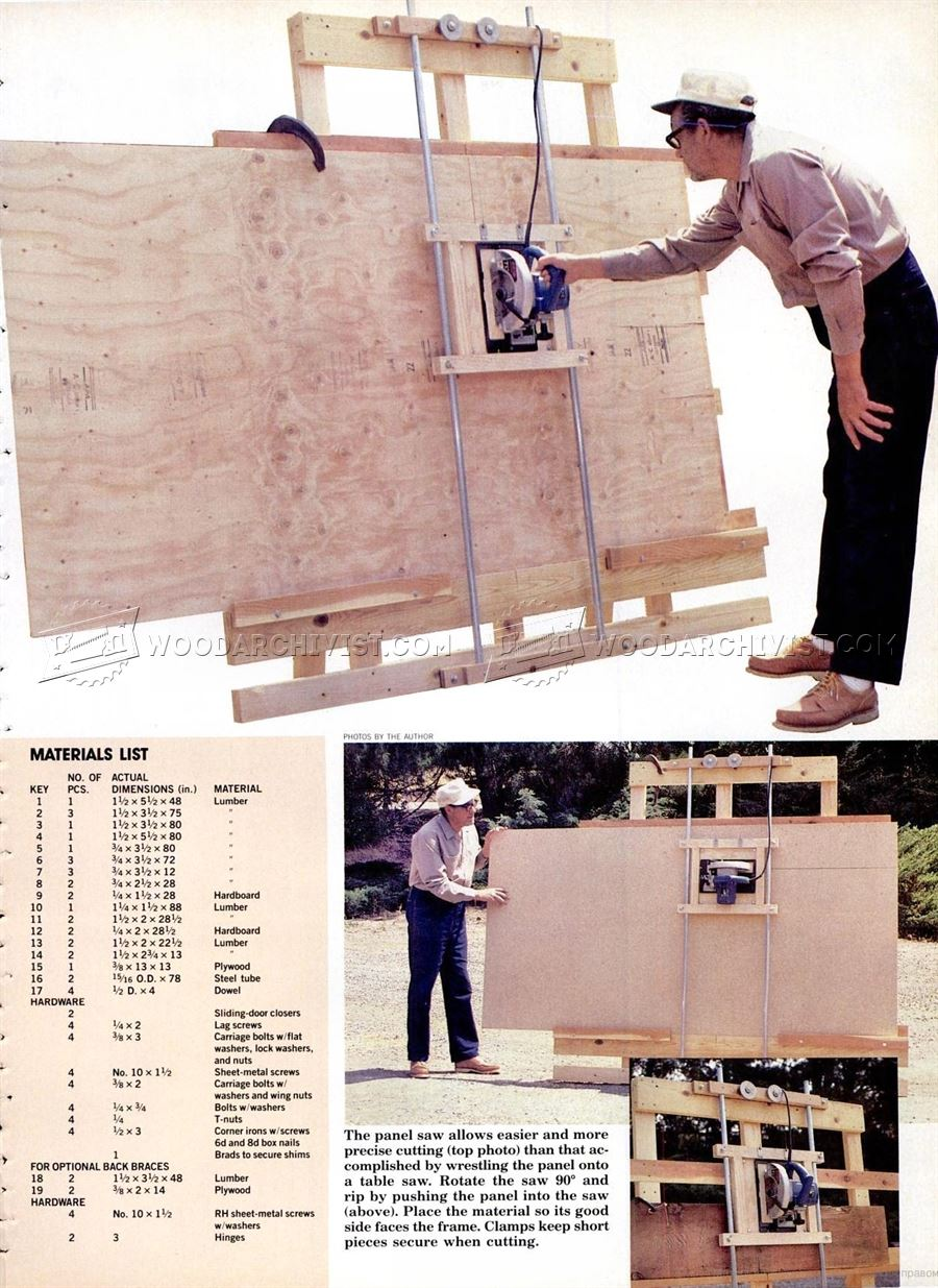 #2418 DIY Vertical Panel Saw