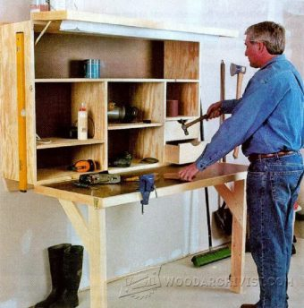 2421-Fold Down Workbench Plans