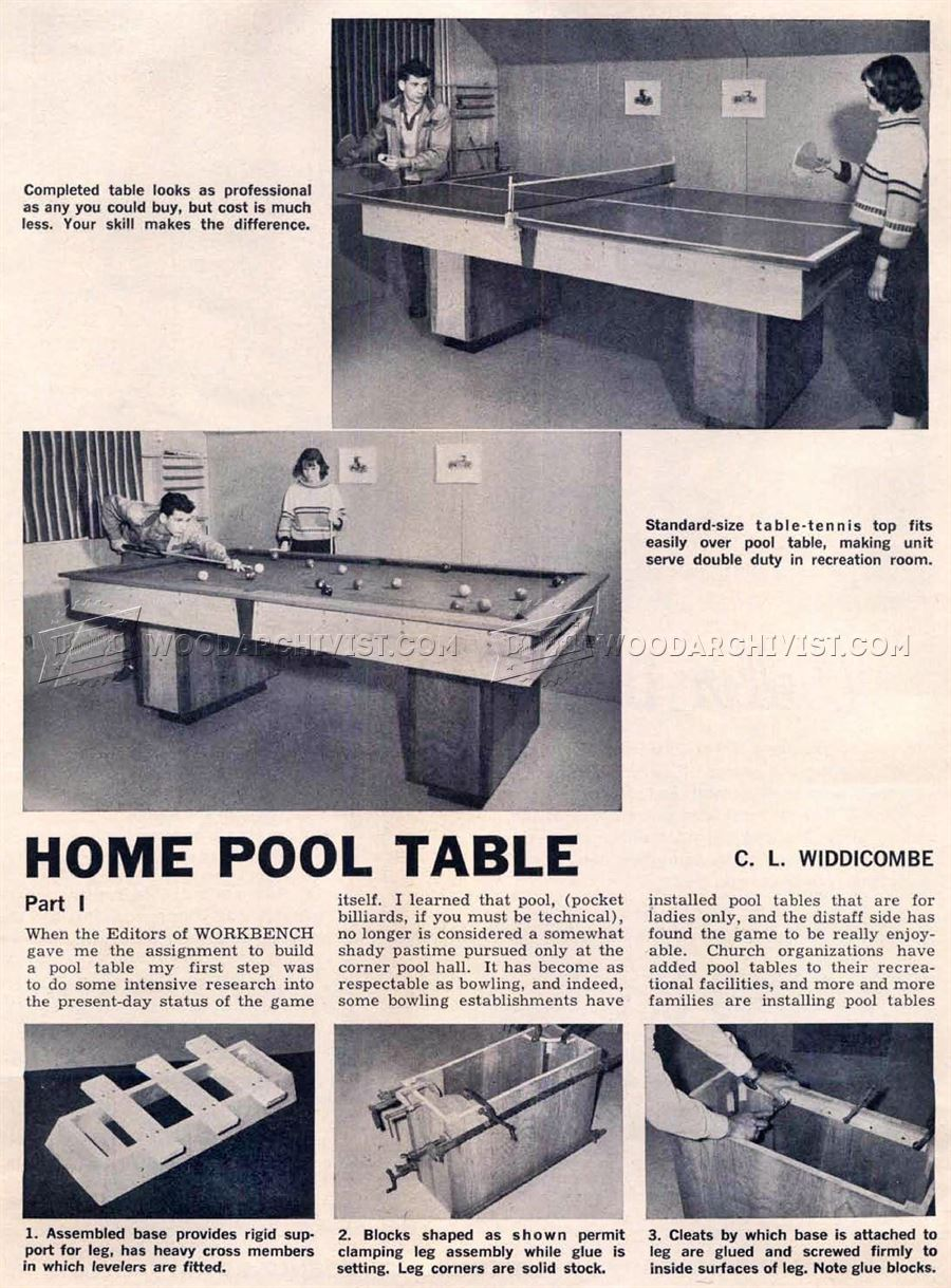 Build your own pool table plans - Diy Pool Table