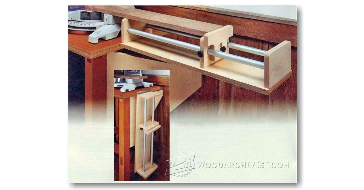 Miter Saw Extension Plans Woodarchivist