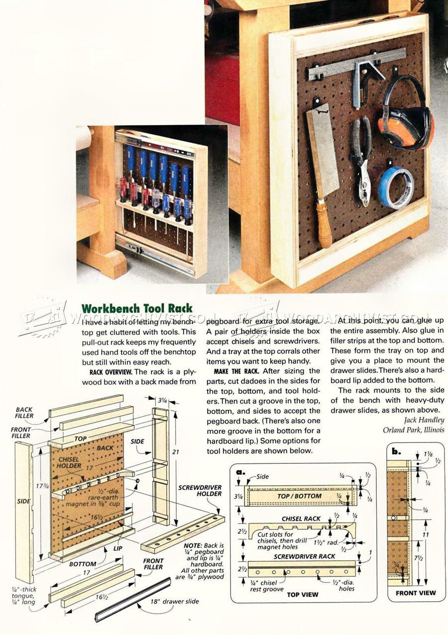 Workbench Tool Rack