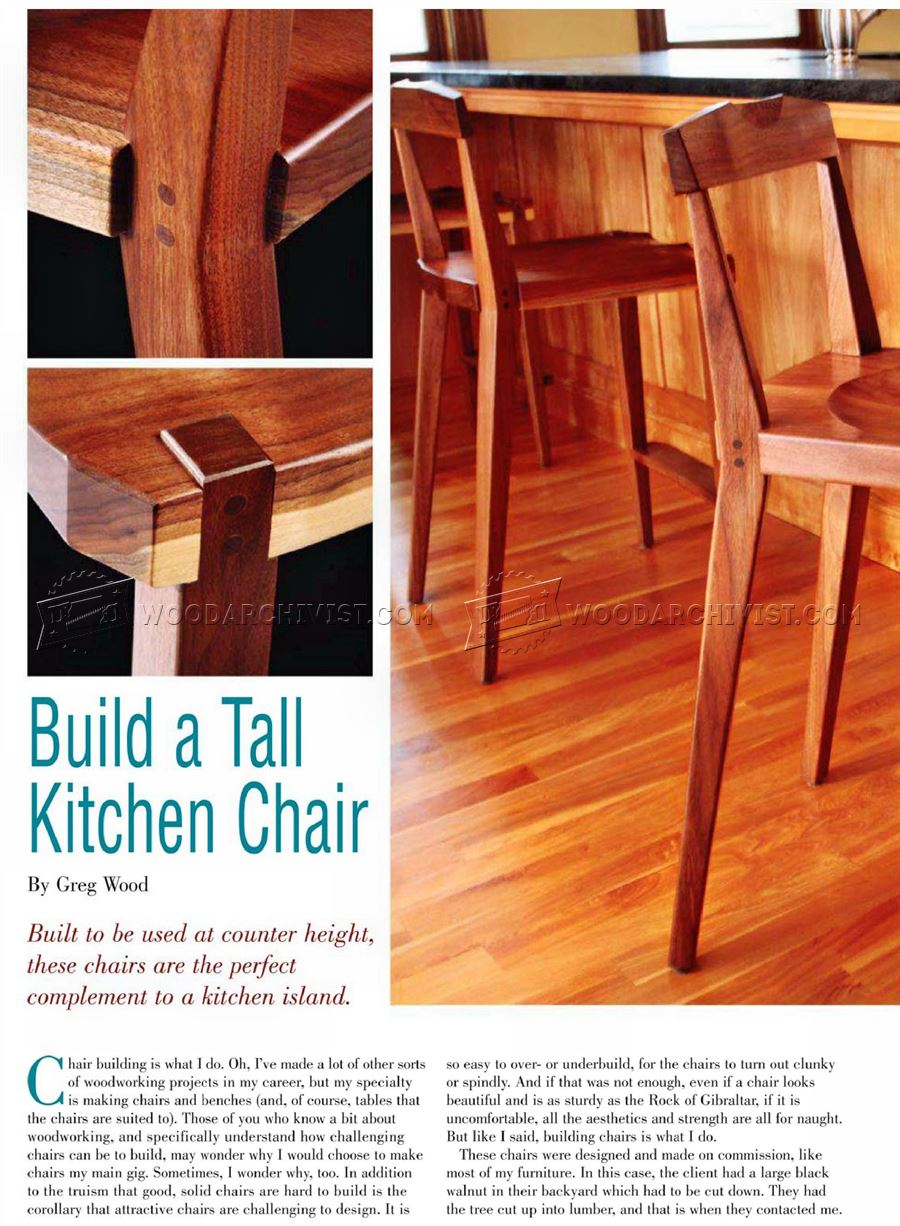 Kitchen Chair Plans • WoodArchivist