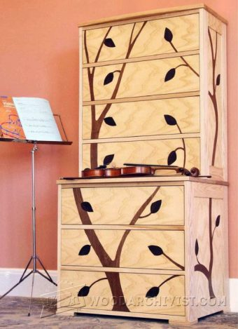 2428-Marquetry Cabinet Plans