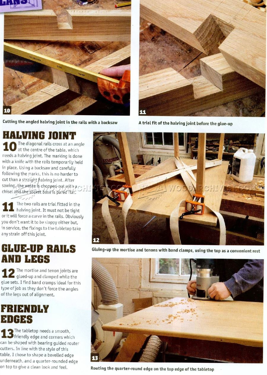 Kitchen Table Plans