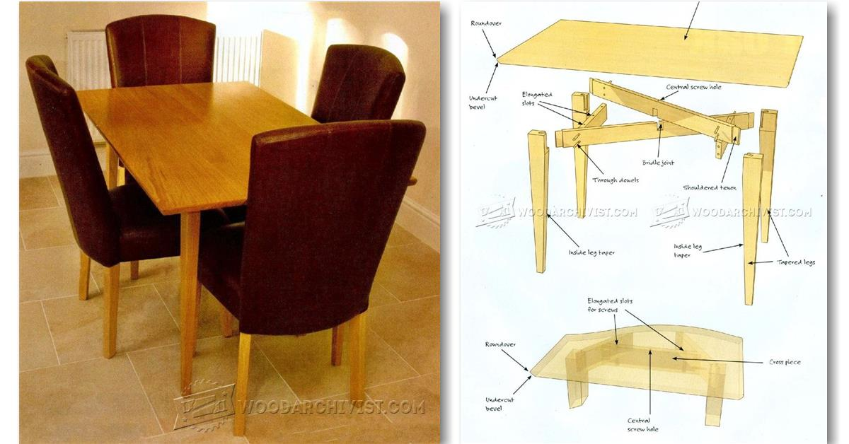 New Kitchen Table Plans  Free Outdoor Plans  DIY Shed
