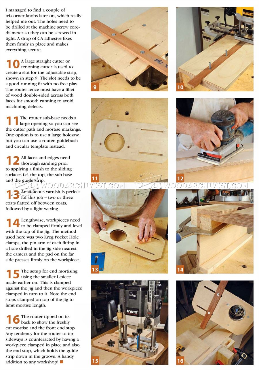 Router Mortising Jig Plans