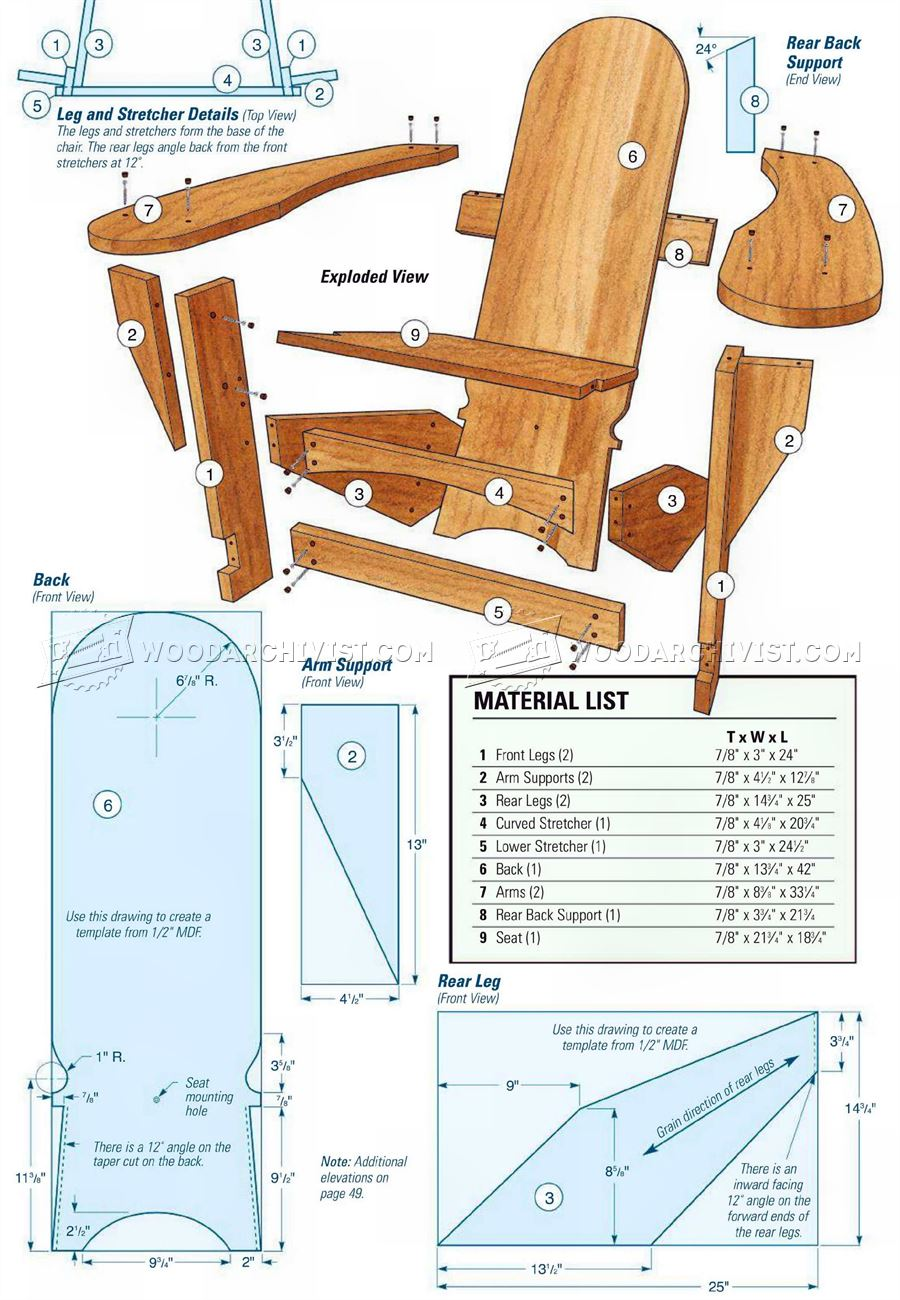 Westport Chair Plans - Outdoor Furniture Plans