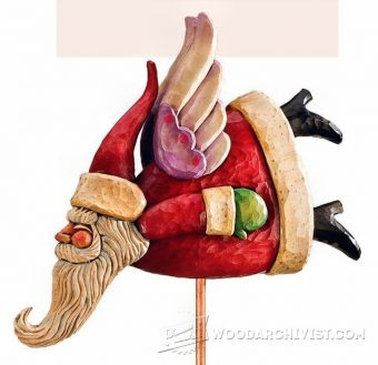 2441-Carving Santa  Stocking Holder