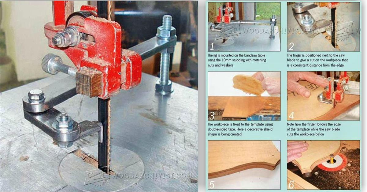 Band Saw Pattern Cutting Jig Woodarchivist