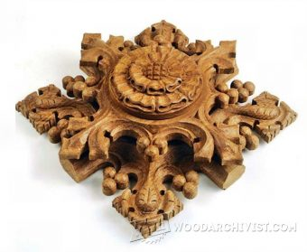 2455-Gothic Ornaments -  Wood Carving Patterns