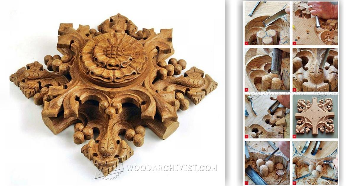 Gothic ornaments wood carving patterns woodarchivist