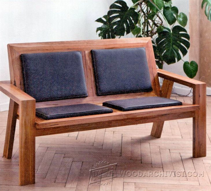 Wooden Sofa Bench Hospitality Oscar Chair 230x120x73cm