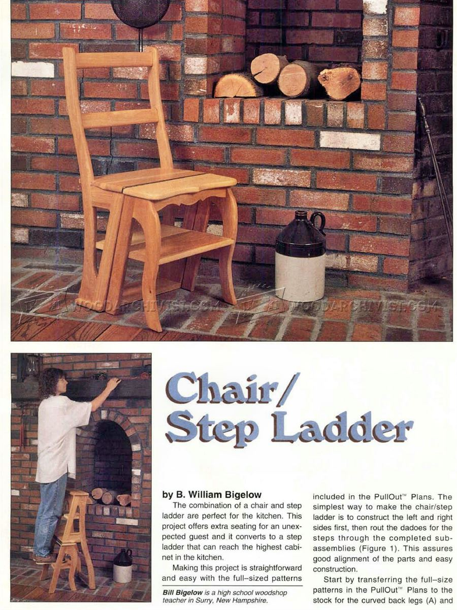 Chair Step Stool Plans ... & Chair Step Stool Plans u2022 WoodArchivist