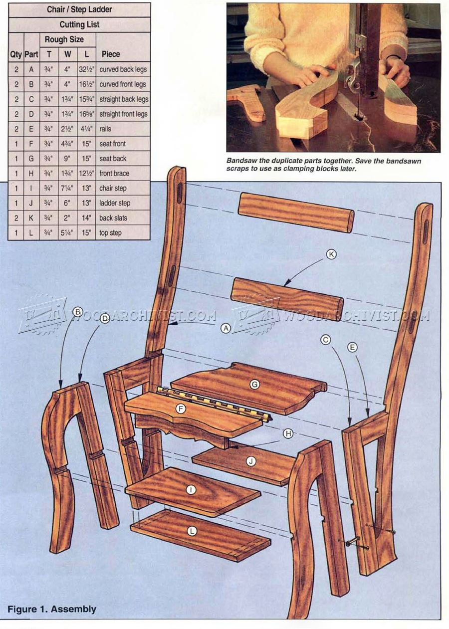 Chair Step Stool Plans