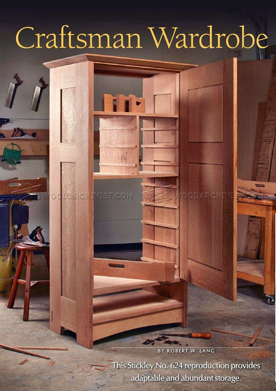 Craftsmans wardrobe plans woodarchivist for Wardrobe cabinet design woodworking plans