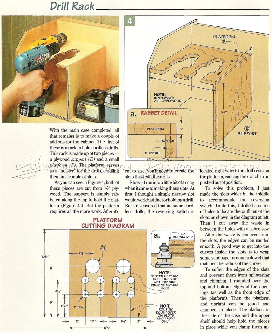 Cordless Tool Storage Cabinet Plans Woodarchivist
